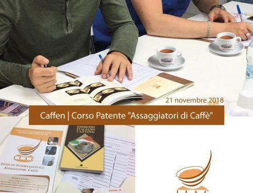 """Corso Patente """"Assaggiatori di Caffè"""" – 21 Novembre 2018  APERTE LE ISCRIZIONI"""