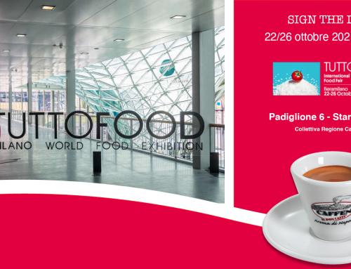 Caffen a Milano dal 22 al 26 ottobre a TUTTO FOOD 2021